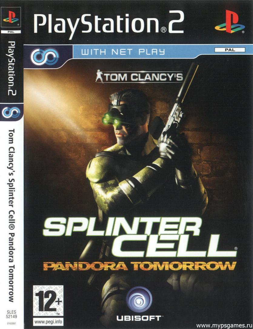 Скан обложки Tom Clancy's Splinter Cell Pandora Tomorrow (лицевая)
